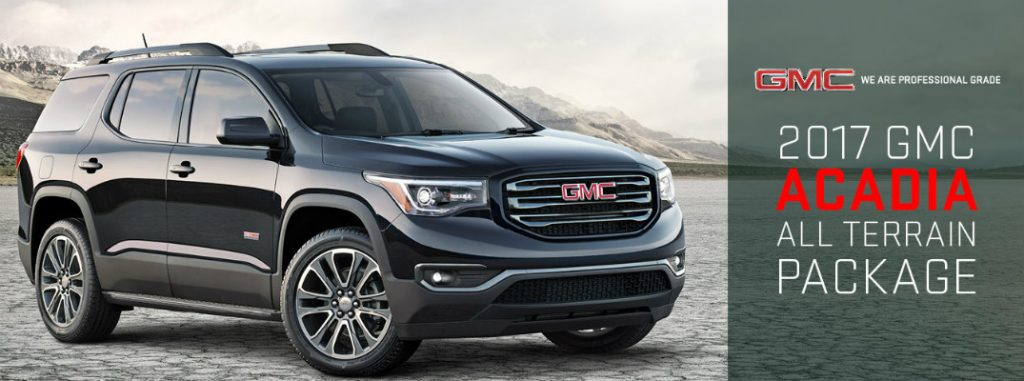 what does the 2017 gmc acadia all terrain package add. Black Bedroom Furniture Sets. Home Design Ideas