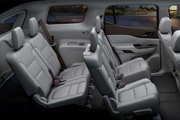 How many passengers does the 2017 GMC Acadia Hold?