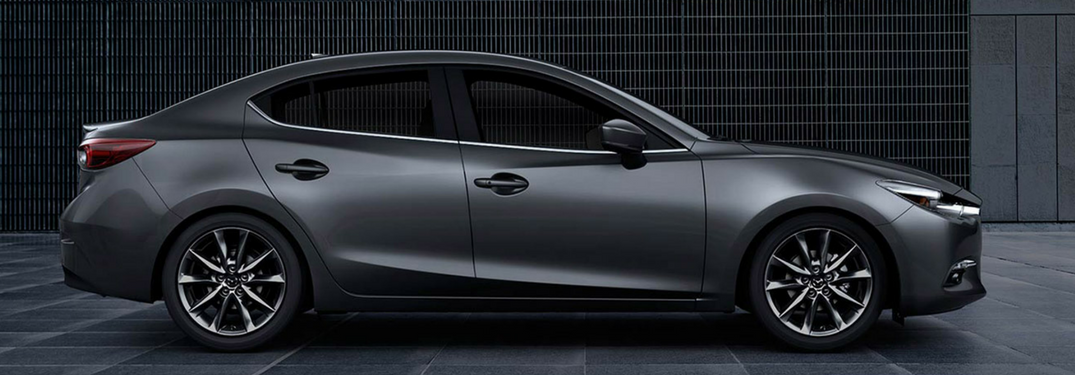 Side exterior view of 2018 Mazda3 4-Door