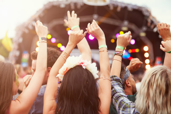 Audience at a festival