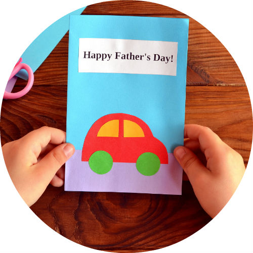 fathers day card handmade by child
