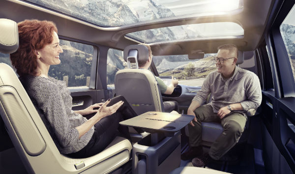 id buzz concept volkswagen interior seating
