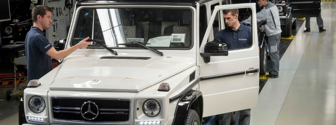 Where is the mercedes benz g class made for Mercedes benz training and education