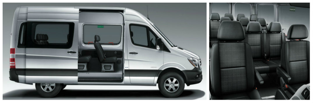 how many passengers can the 2017 mercedes benz sprinter