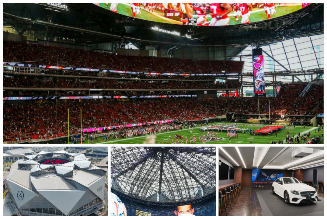 Mercedes Benz Stadium In Atlanta Makes Its Debut Sunday