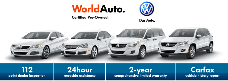 benefits of worldauto certified pre owned vw models. Black Bedroom Furniture Sets. Home Design Ideas