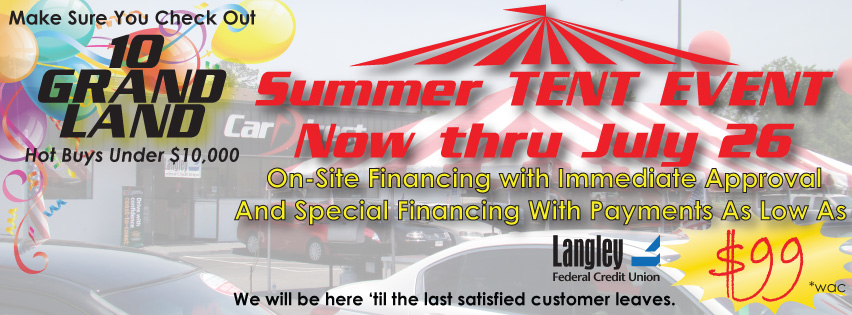 Tent Sale July Extended