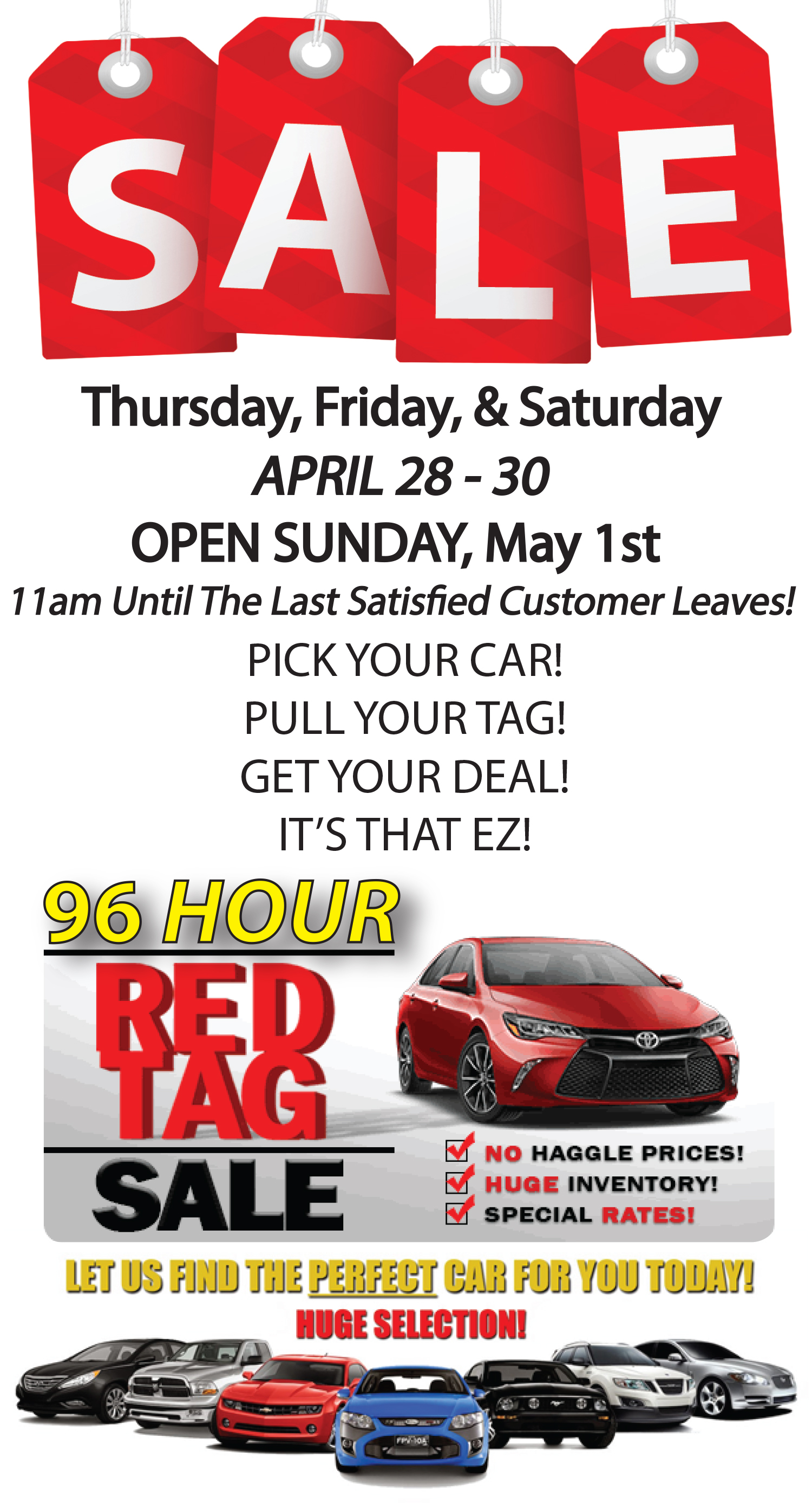 RED TAG SALES EVENT - Car Direct LLC