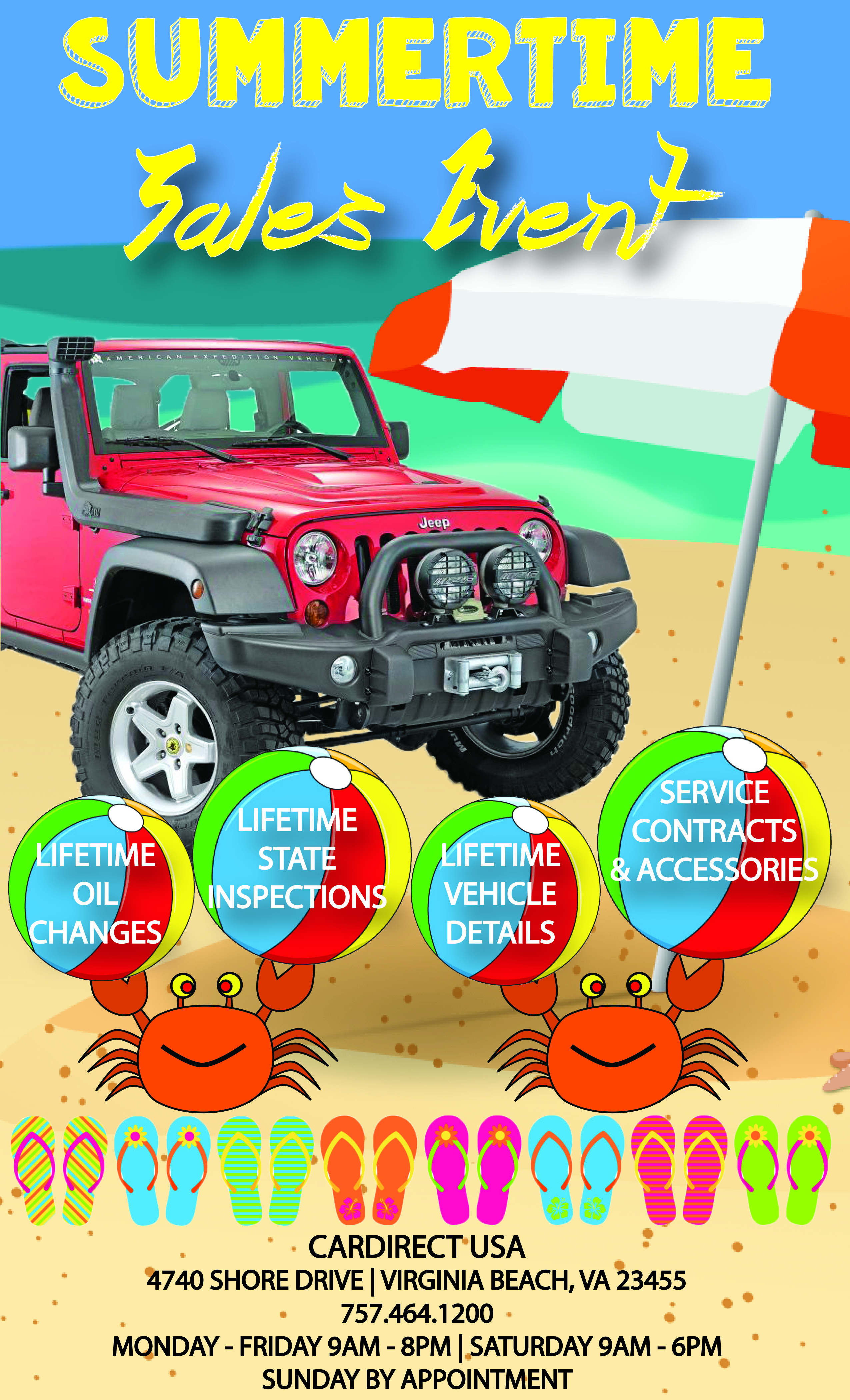 SUMMERTIME SALES EVENT IS HAPPENING NOW - Car Direct LLC