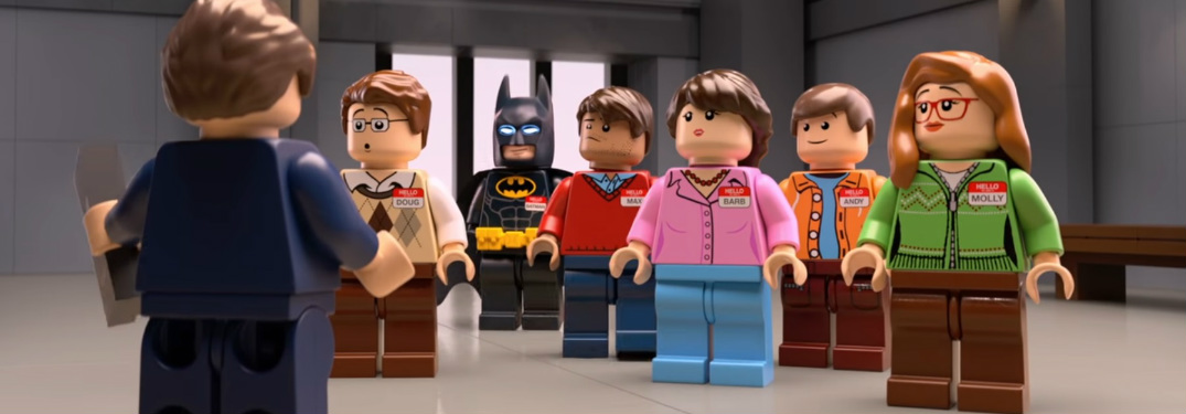 LEGO Batman and other LEGO figures in Chevy commercial