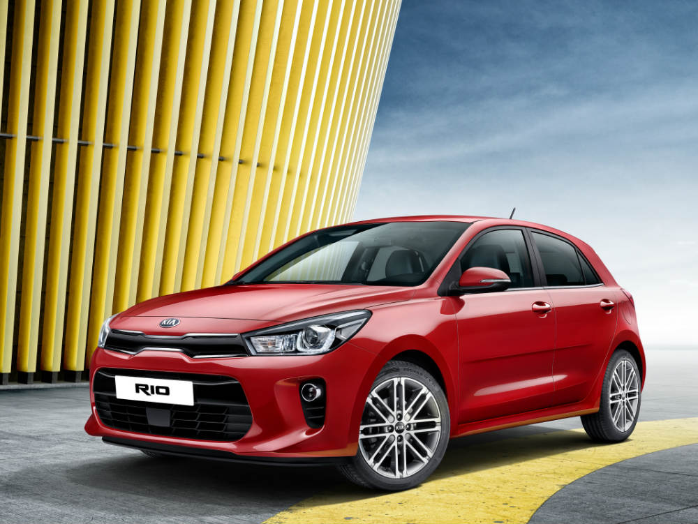 2017 Kia Rio from the front