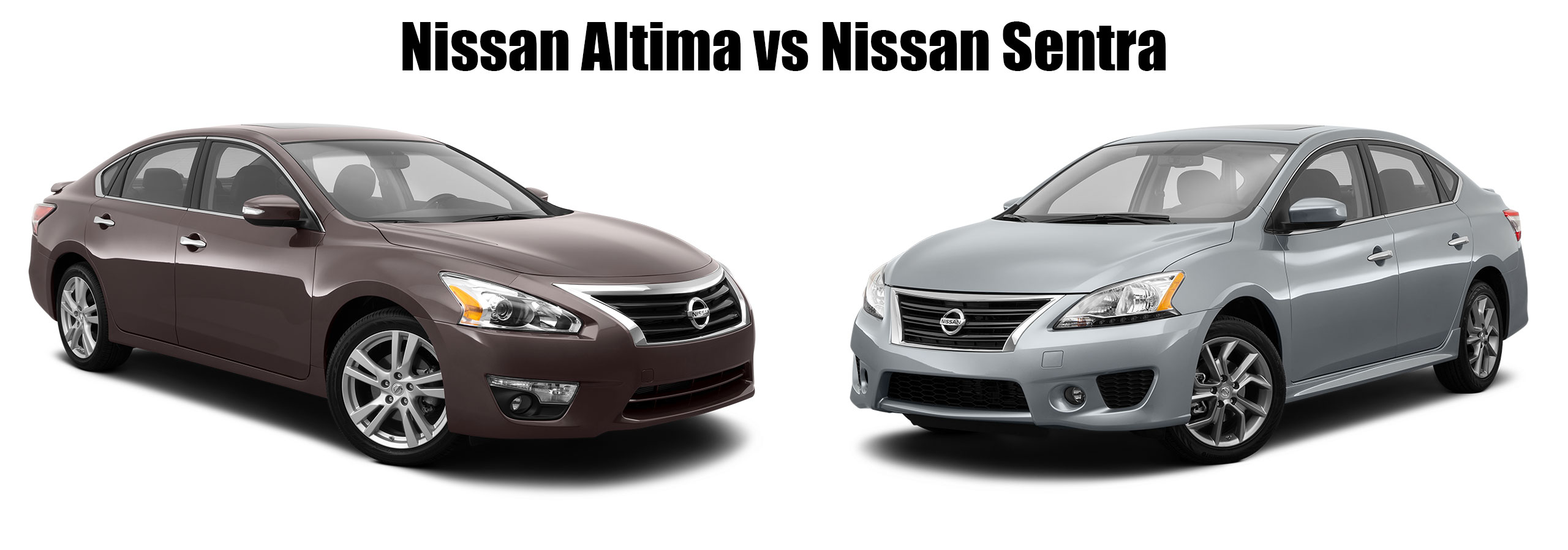 How do the Nissan Altima and Nissan Sentra compare?