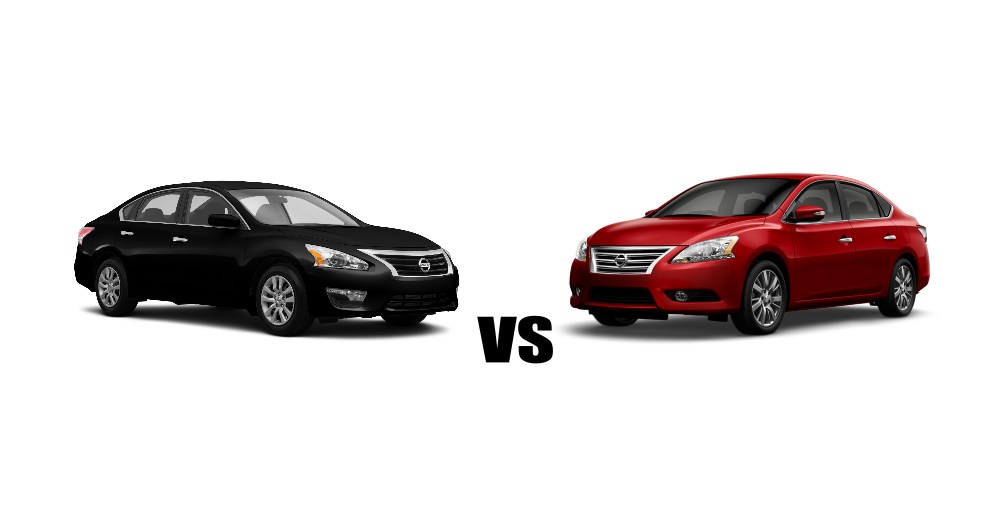 how do the nissan altima and nissan sentra compare. Black Bedroom Furniture Sets. Home Design Ideas