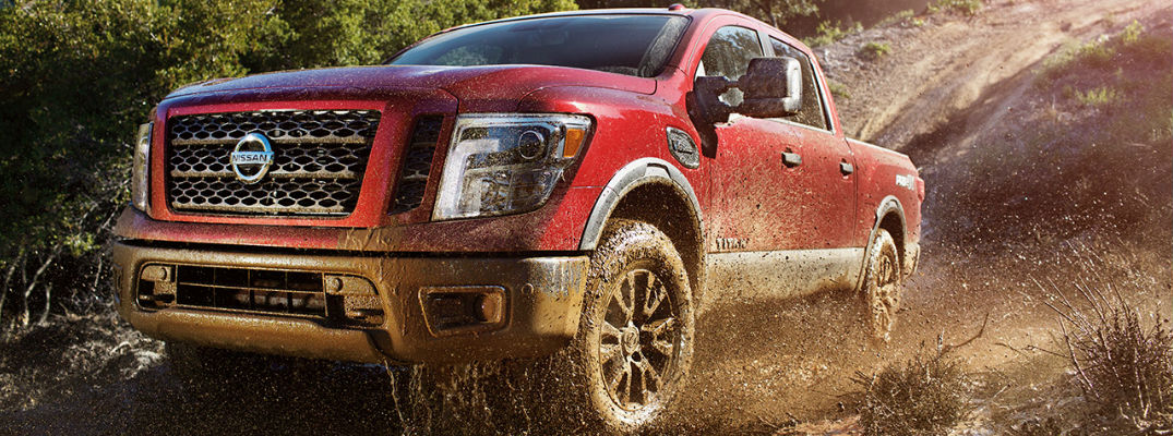 2017 Nissan Titan in Red