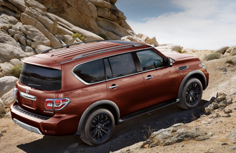 2018 Nissan Armada in red