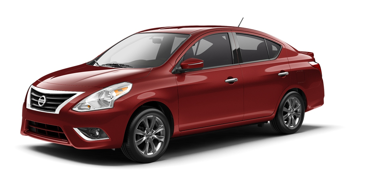 Nissan Versa Sedan in Cayenne Red