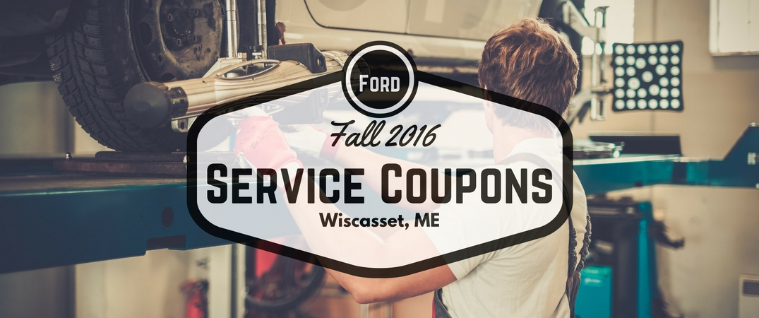 Fall 2016 Car Service Coupons Near Wiscasset Me