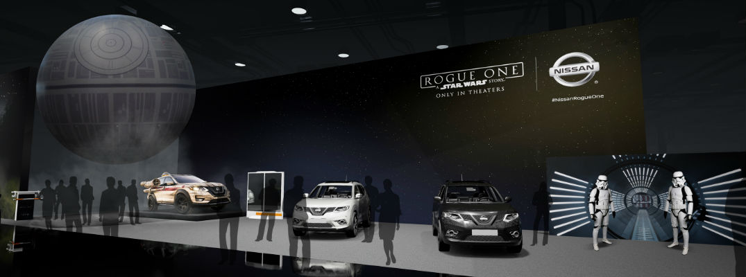 Diagram of 2017 Chicago Auto Show Nissan Rogue Star Wars Display