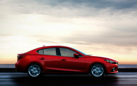 2016 Mazda 3 In Red Profile Side Design Features