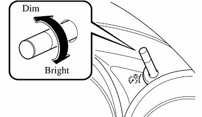 How To Dim Or Brighten Mazda Dashboard Lights - Mazda cx 5 dashboard lights