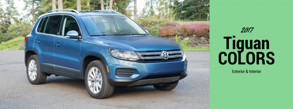 2017 Volkswagen Tiguan Interior And Exterior Color Options