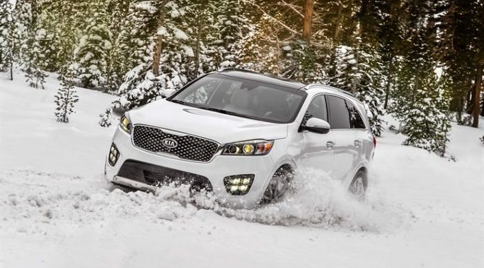2018 Sorento taking out some snow like its NOTHING