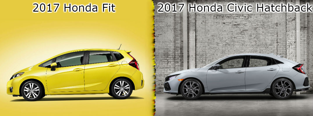 2017 honda fit vs 2017 honda civic hatchback for Honda fit vs civic