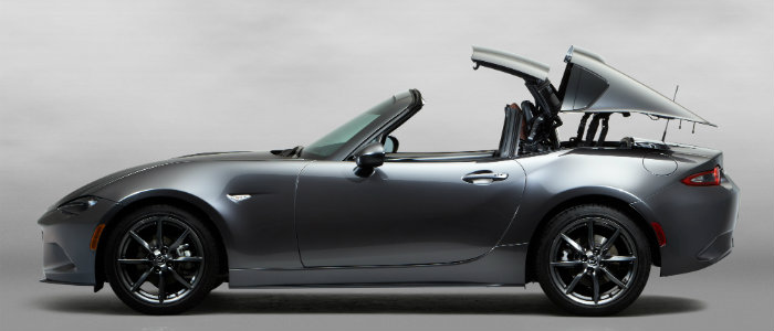 how to put the top up or down on the mazda mx-5 miata rf