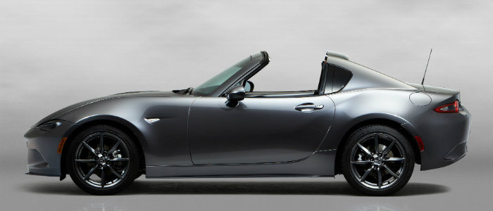 mazda mx-5 miata rf with top down