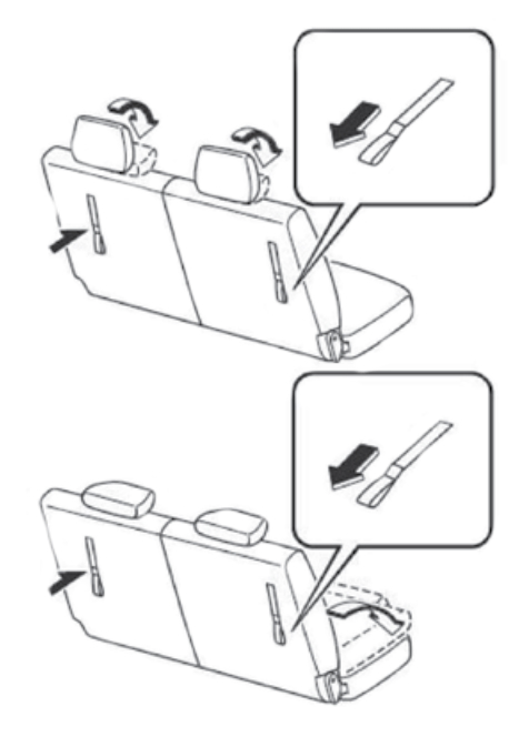 how to fold down rear seats in a mazda cx
