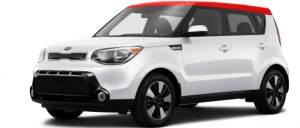 2016 kia soul white and red