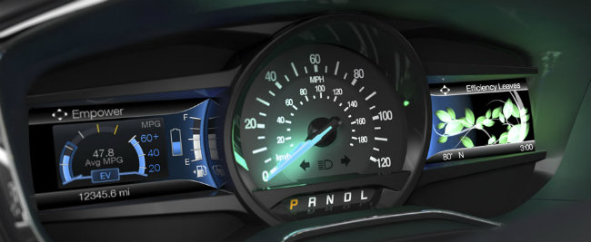2014-ford-fusion-hybrid-gauges