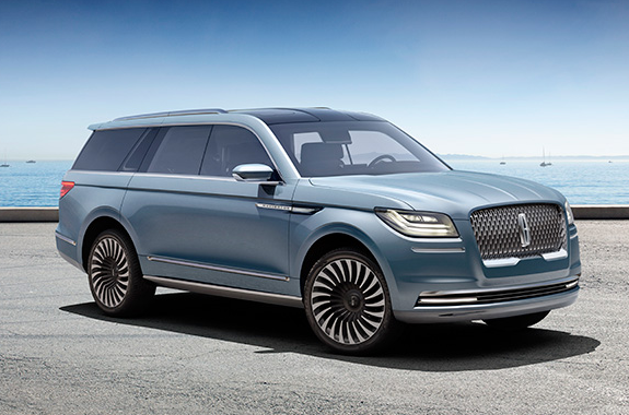 Front of the Lincoln Navigator concept