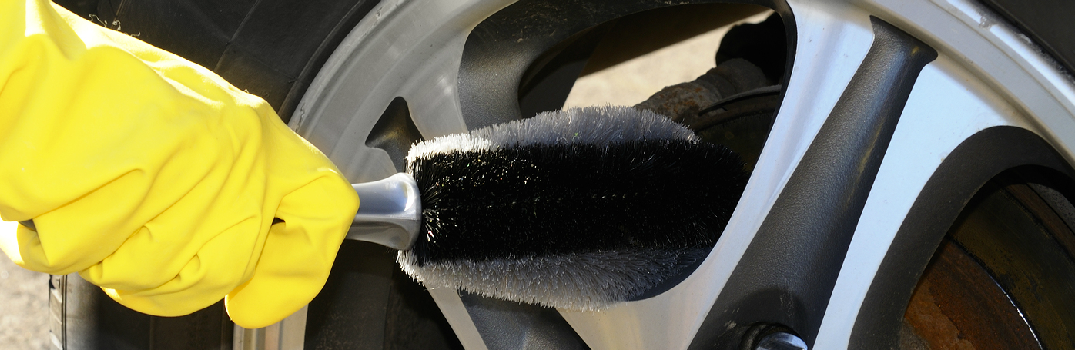Simple Way to Clean Alloy Wheels on a car