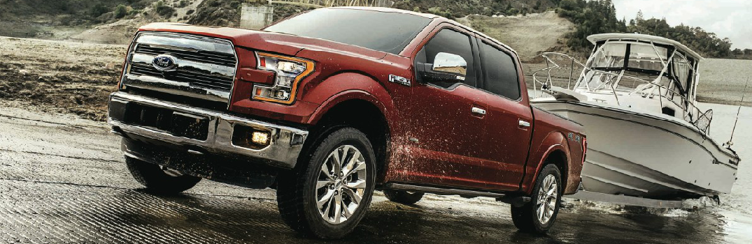 Red 2017 Ford F-150 Exterior