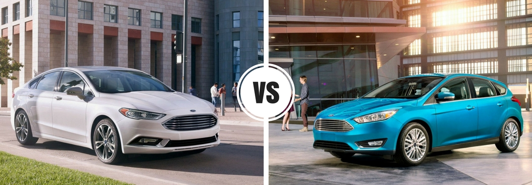 What are the differences between the 2017 Ford Focus and 2017 Ford Fusion?
