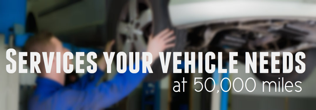 Vehicle services needed when your Ford hits 50,000 miles
