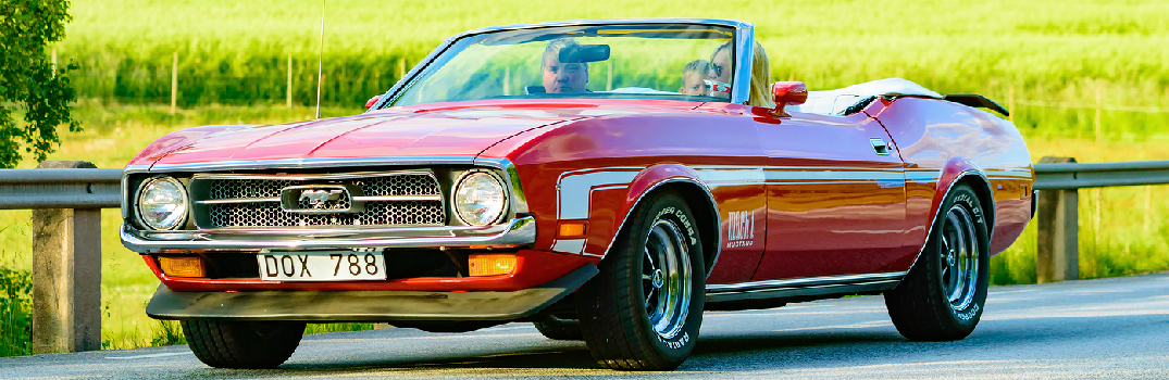 Red 1972 Ford Mustang