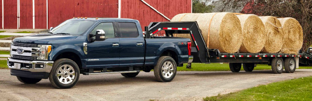 2017 Ford Super Duty Towing Hay