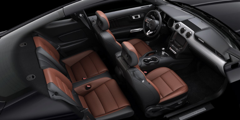 2017 Ford Mustang With Dark Saddle Leather
