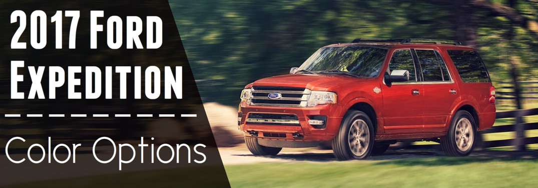 What colors does the 2017 Ford Expedition come in