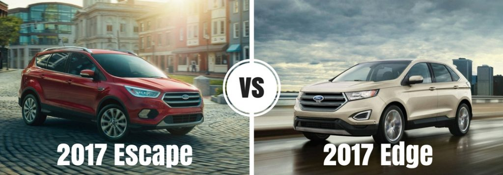 2017 Ford Fusion Mpg >> 2017 Ford Escape vs 2017 Ford Edge