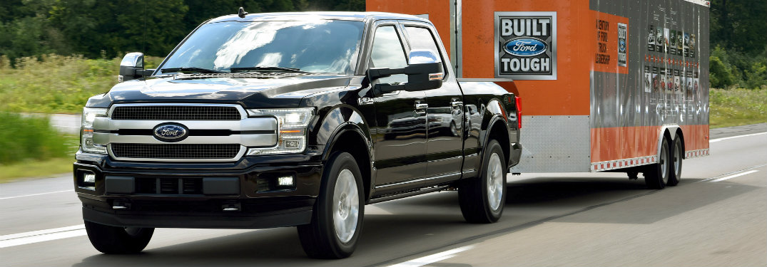 2018 Ford F-150 towing large trailer