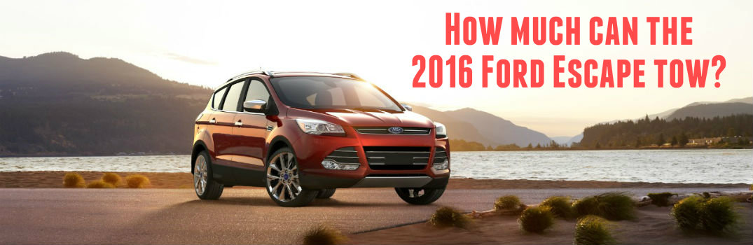 how much can the 2016 ford escape tow. Black Bedroom Furniture Sets. Home Design Ideas