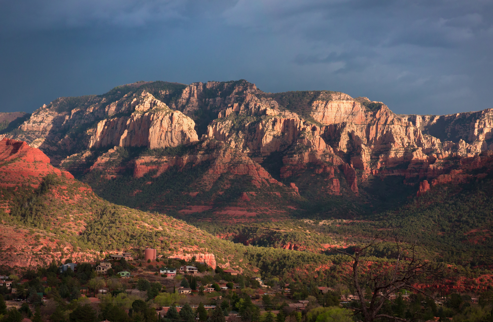 Sandstone Cliffs Sedona-Arizona