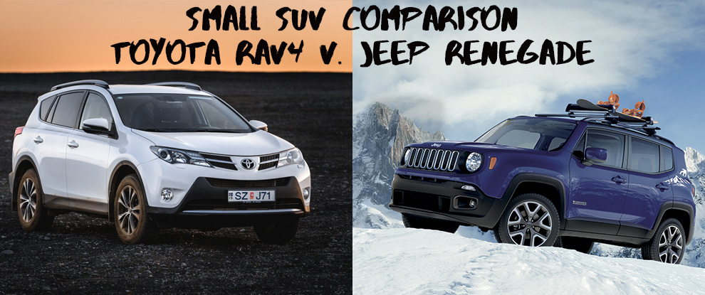 2016 Small SUV comparison: Jeep Renegade and Toyota RAV4