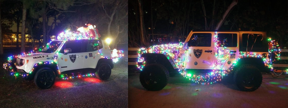 Black Sheep 4x4 Jeep club in a holiday parade