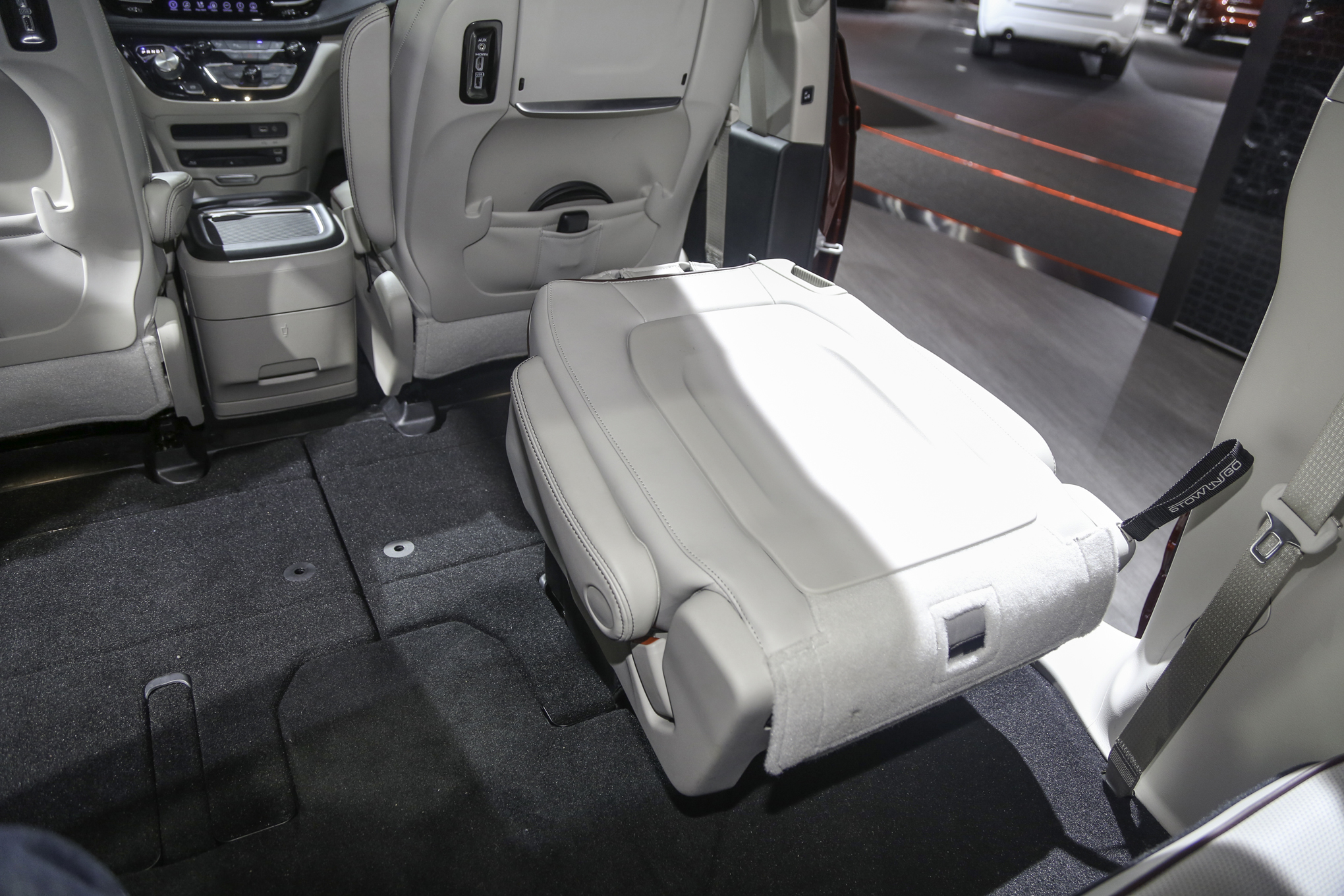other purposes for stow n' go seating in the Chrysler Pacifica