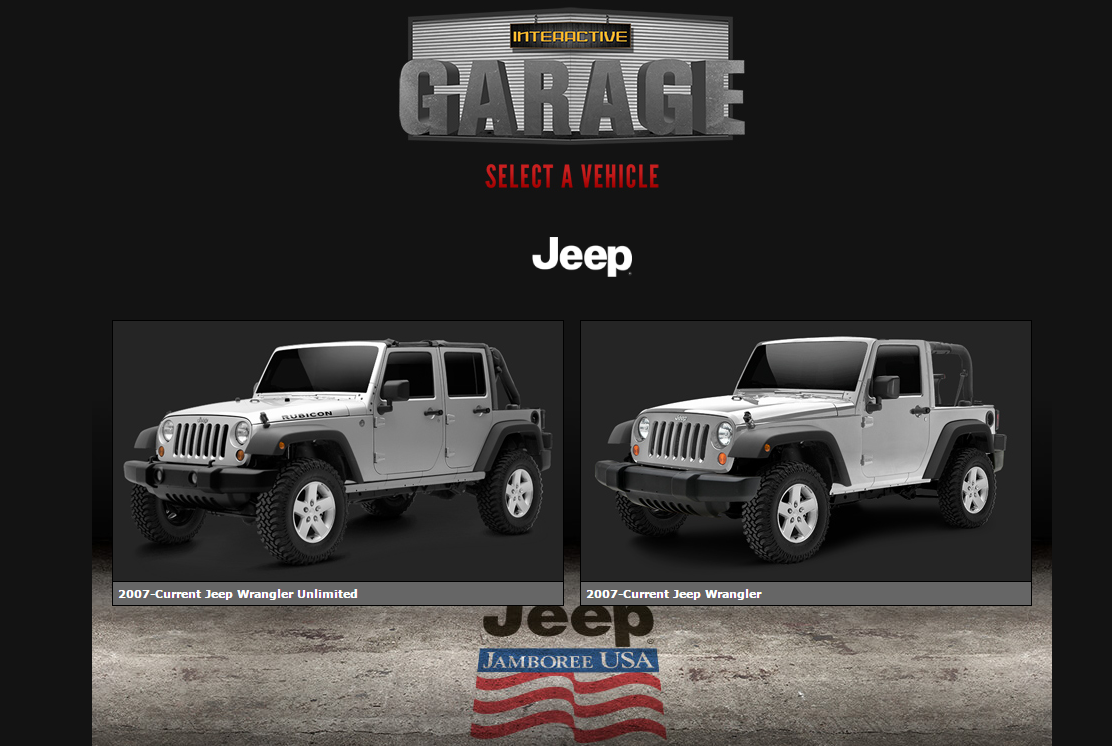 Jeep Jamboree Interactive Garage