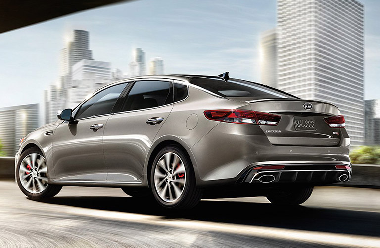 2016 kia optima exterior gray